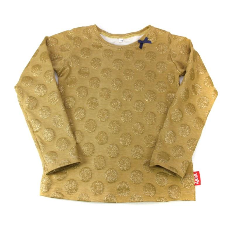 Shirt oker met gouden stip