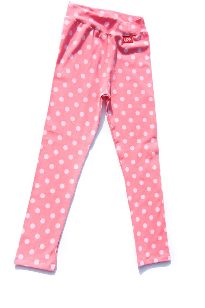 Legging print roze stip