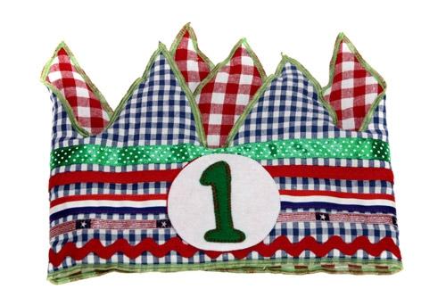 Verjaardagskroon blauw/rood/groen   1