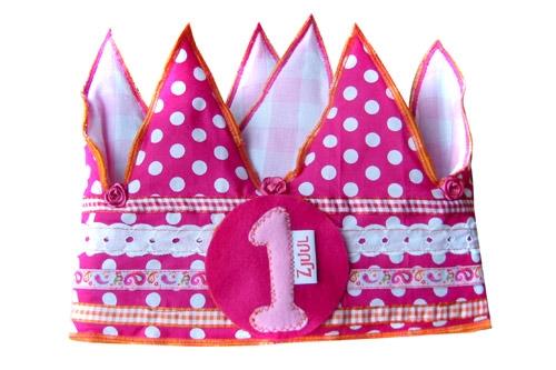 Verjaardagskroon roze   1