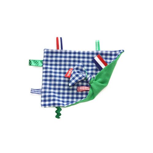 Labeldoekje groen/blauw   1