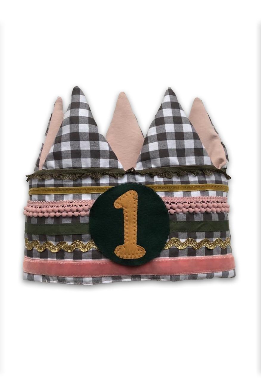 Verjaardagskroon Oud roze-goud-groen   1