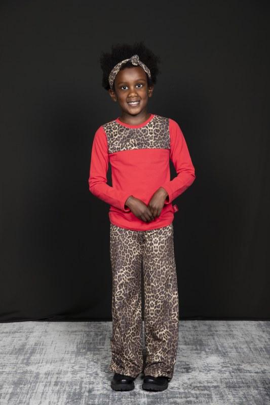 Shirt luipaard bruin