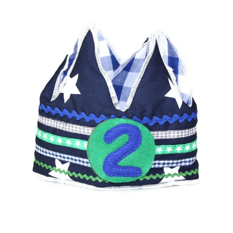 Verjaardagskroon blauw