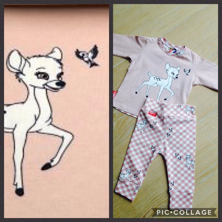 Shirt/broekje met hertje
