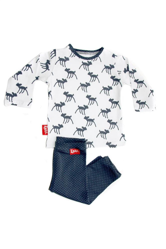 Set shirt hertjes met broekje