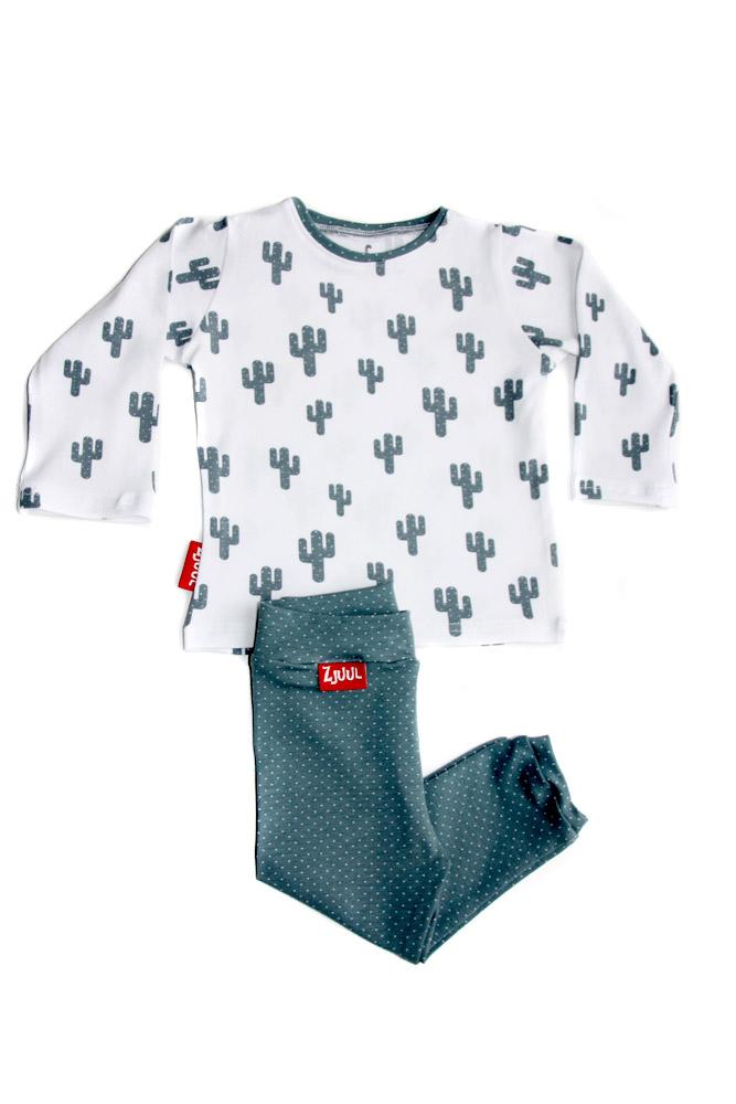 Set shirt cactus met broekje groen/grijs