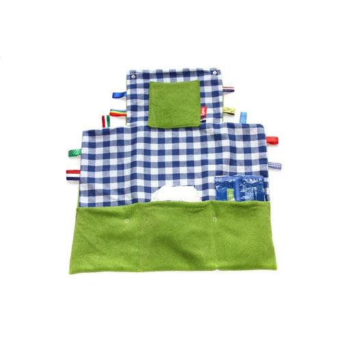 Verschoningsmatje groen/blauw