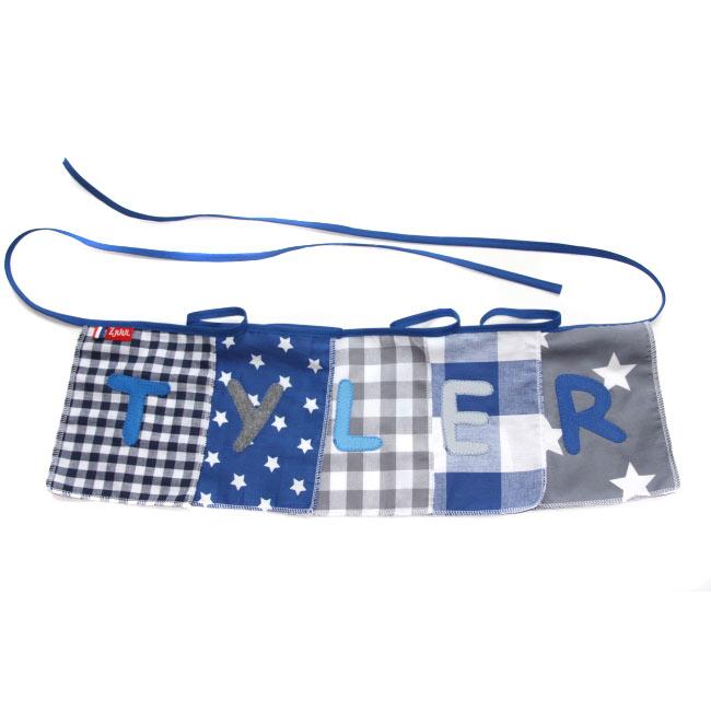 Naamslinger blauw/grijs