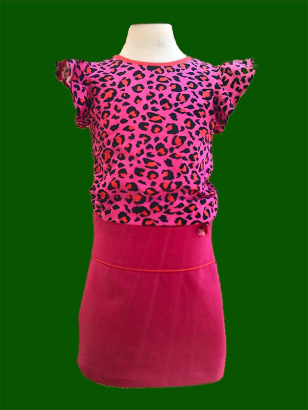 Shirt luipaard roze